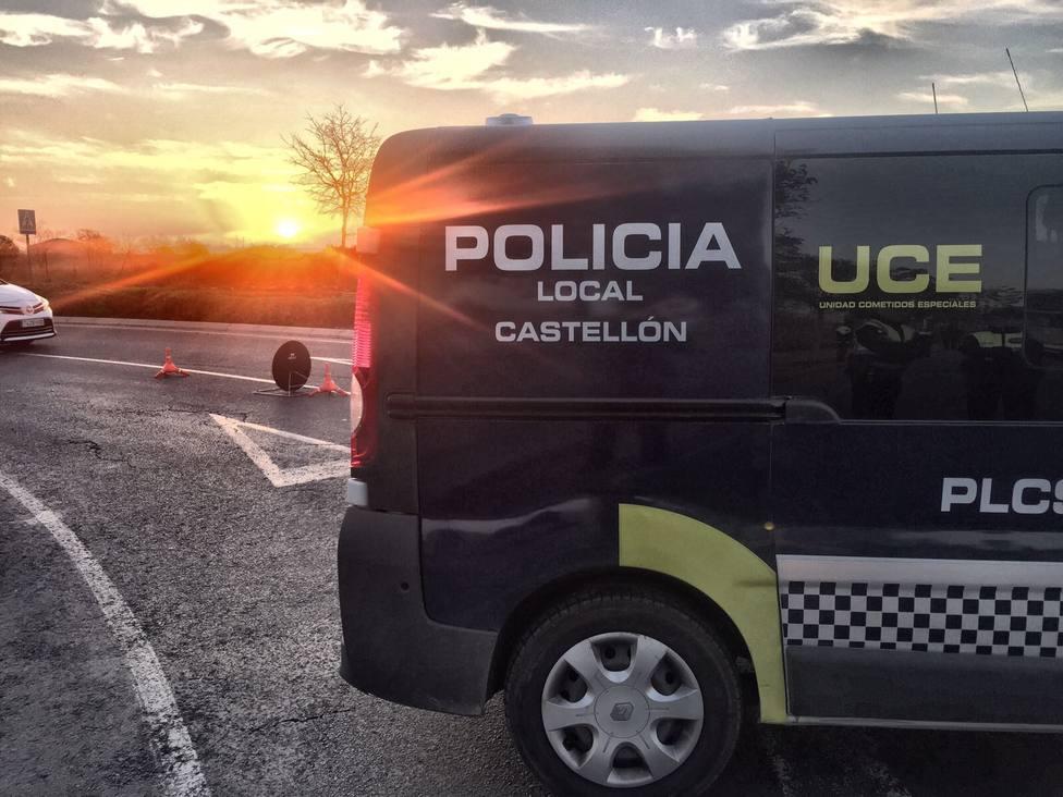 Control policial en Castellón