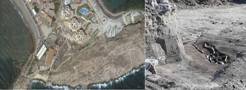 Documentan doce enterramientos andalusíes junto a playa de Levante de Águilas