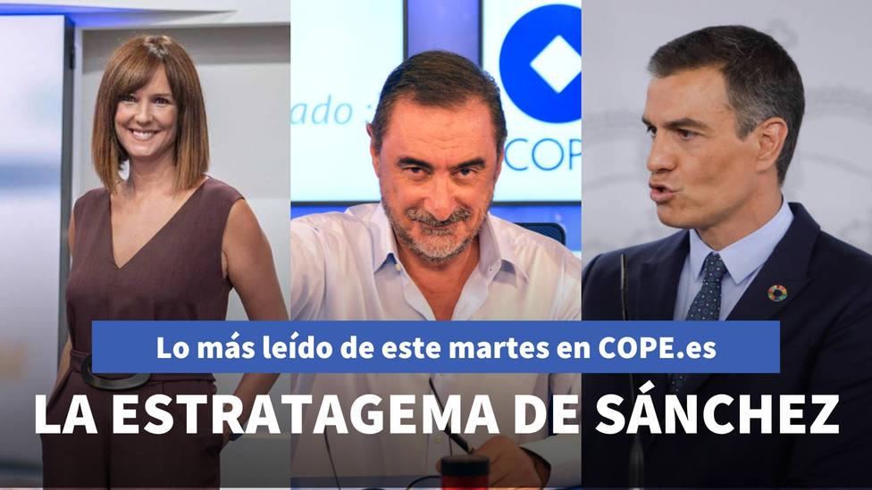 La última estratagema de Sánchez destapada por Herrera, entre lo más leído de este martes