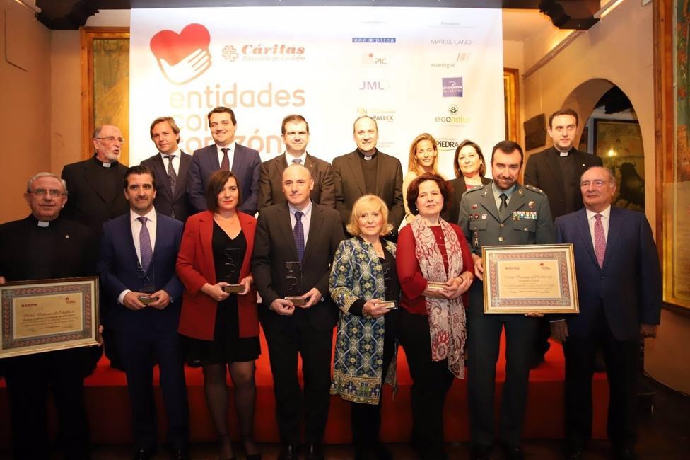Bodegas Mezquita, Moma Telecomunicaciones, Mercadona y Esalfe, Premios con Corazón 2021 de Cáritas