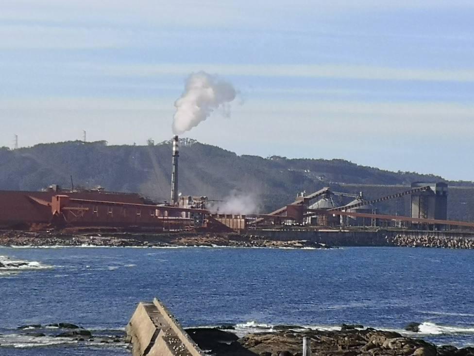 Vista de la fábrica de Alcoa en San Cibrao