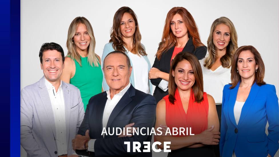 TRECE cierra abril como líder en las tardes y es la opción favorita de los espectadores los fines de semana