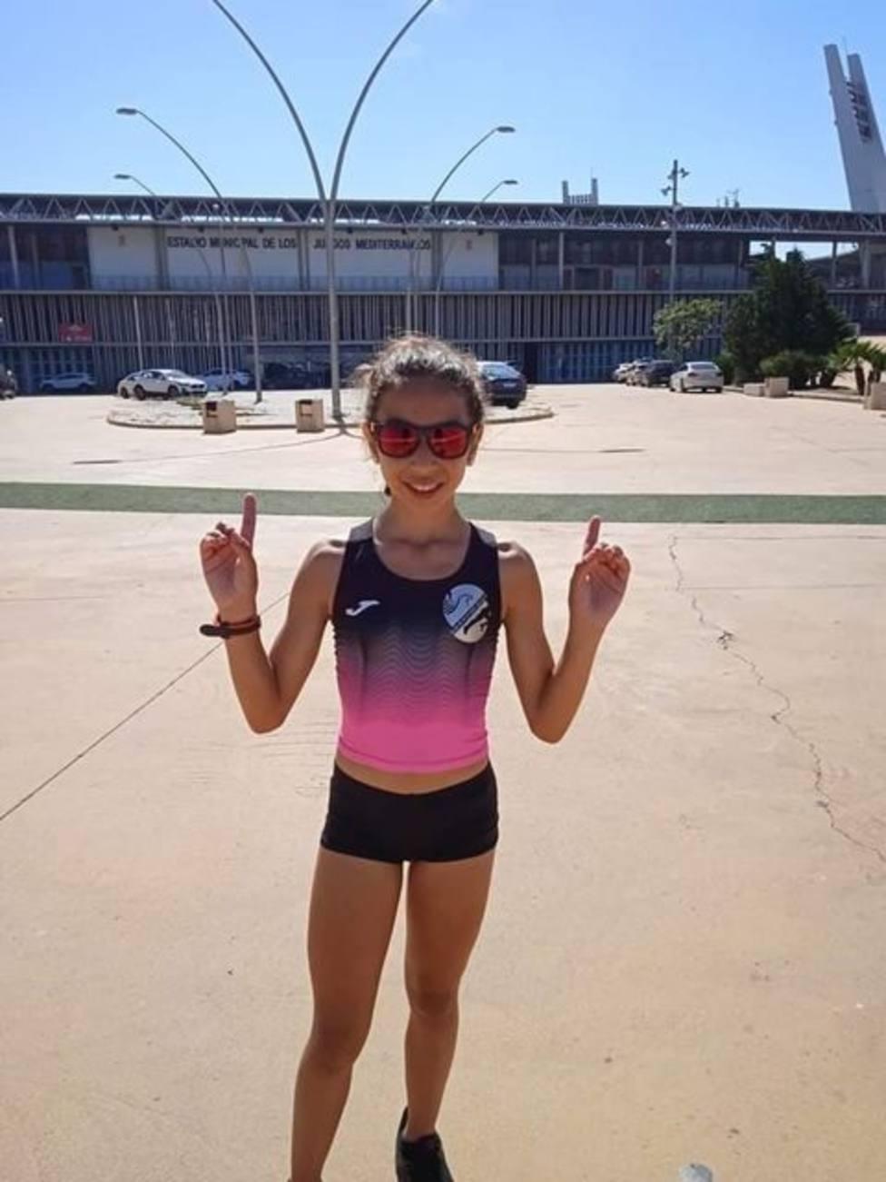 Fátima Hernández fulmina la plusmarca Sub14 de 3.000m.l.
