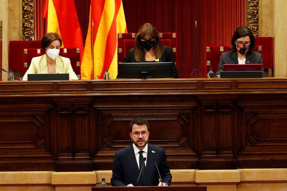 Aragonès insiste en su investidura en avanzar hacia una Generalitat republicana