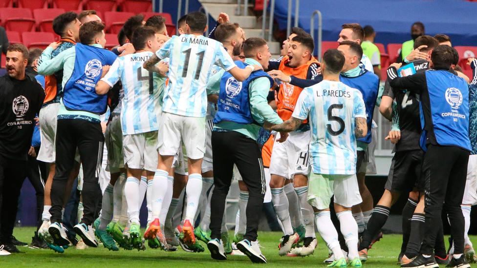 La selección de Argentina celebra el pase a la final de la Copa América. CORDONPRESS