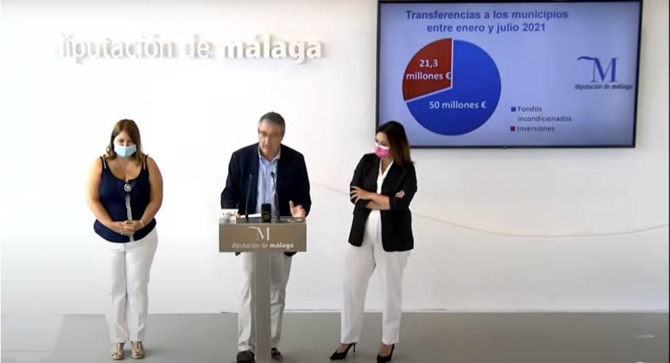 La Diputación de Málaga transfiere más de 70 millones a los 103 ayuntamientos de la provincia