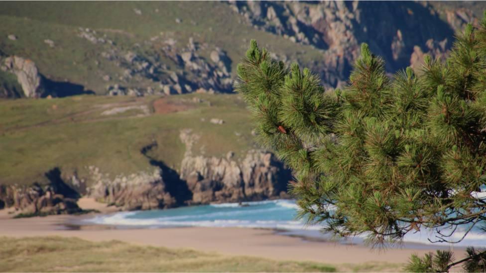 Foto de archivo de los acantilados de punta Penencia