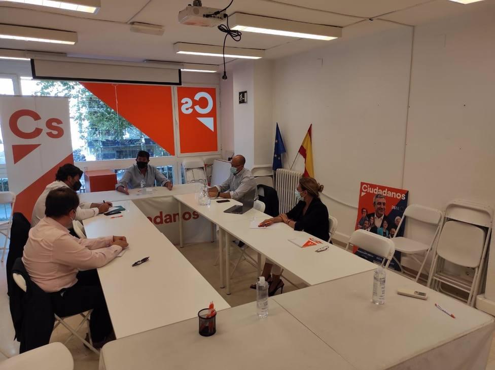 Juan Marín se reúne con el comité provincial de Cs
