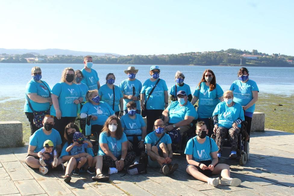 Grupo de voluntariado de la ASCM. FOTO: ASCM