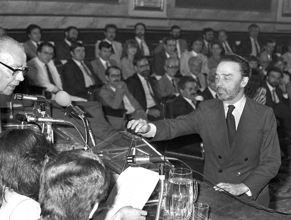 Luis Guillermo Perinat y Elío, candidato de Alianza Popular a la Asamblea de Madrid. EFE
