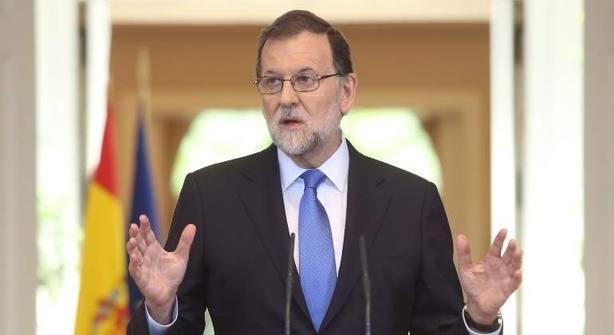 Mariano Rajoy, presidente del Gobierno, en Moncloa. EFE