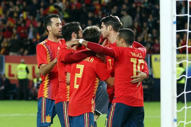 La Seleccion Española vence con rotundidad por 5-0 a CostaRica en el amistoso previo al Mundial de Rusia