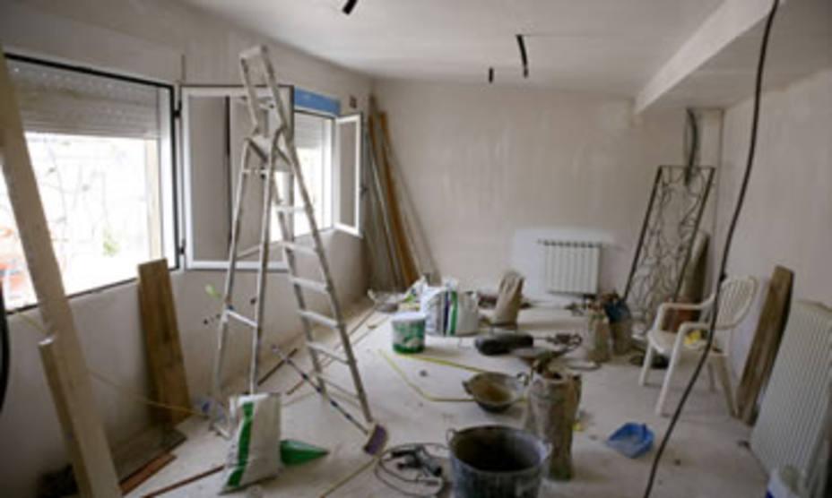 Obras en una casa