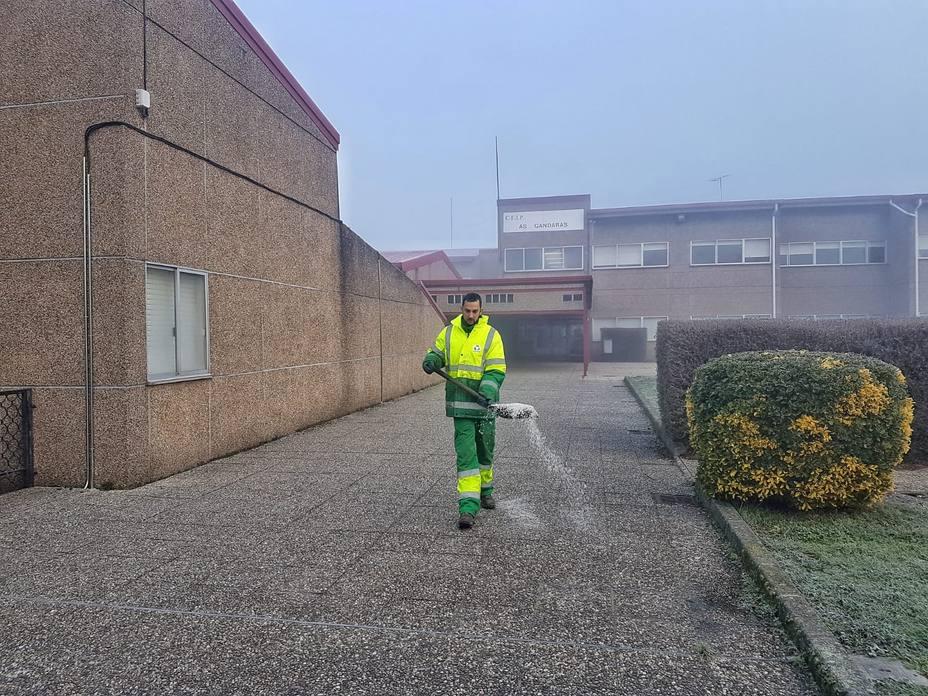 La Diputación tuvo que actuar a causa del hielo en todos los municipios de la montaña de Lugo