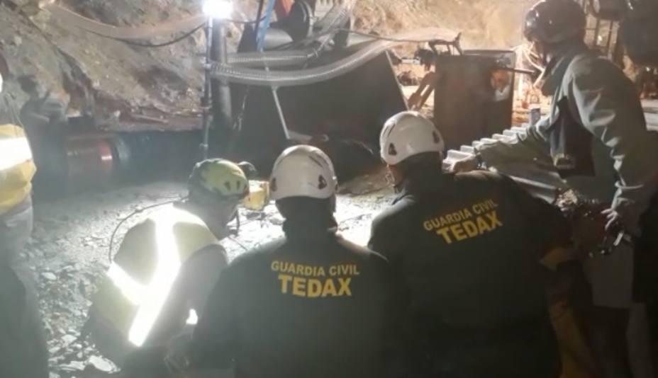 Los guardias civiles que han participado en el rescate de Julen