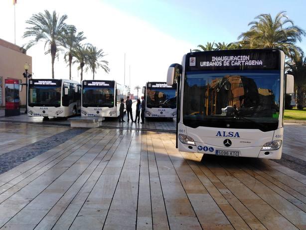 Los autobuses urbanos de Cartagena superaron en 2018 los cinco millones de usuarios