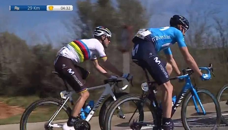 Valverde está cerca del triunfo en la Vuelta a Valencia