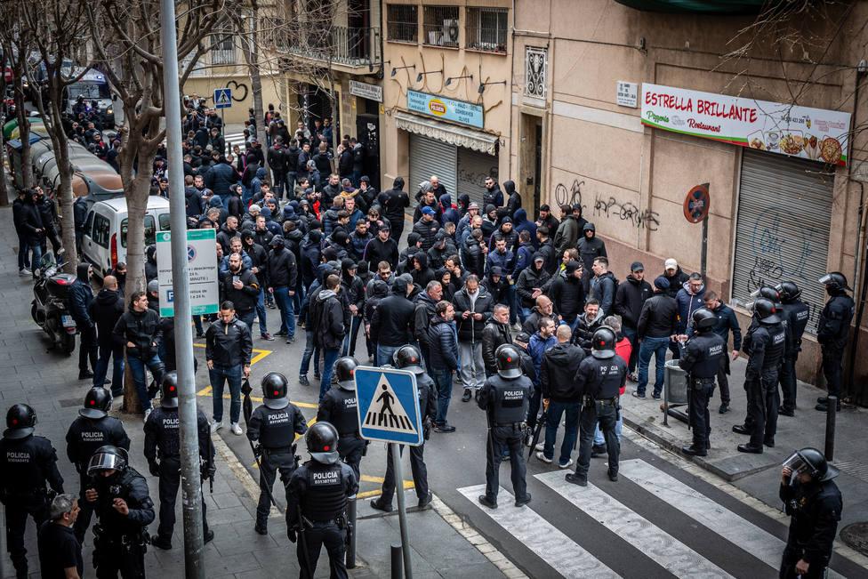 Seis detenidos en la previa del Barça y del Olympique de Lyon