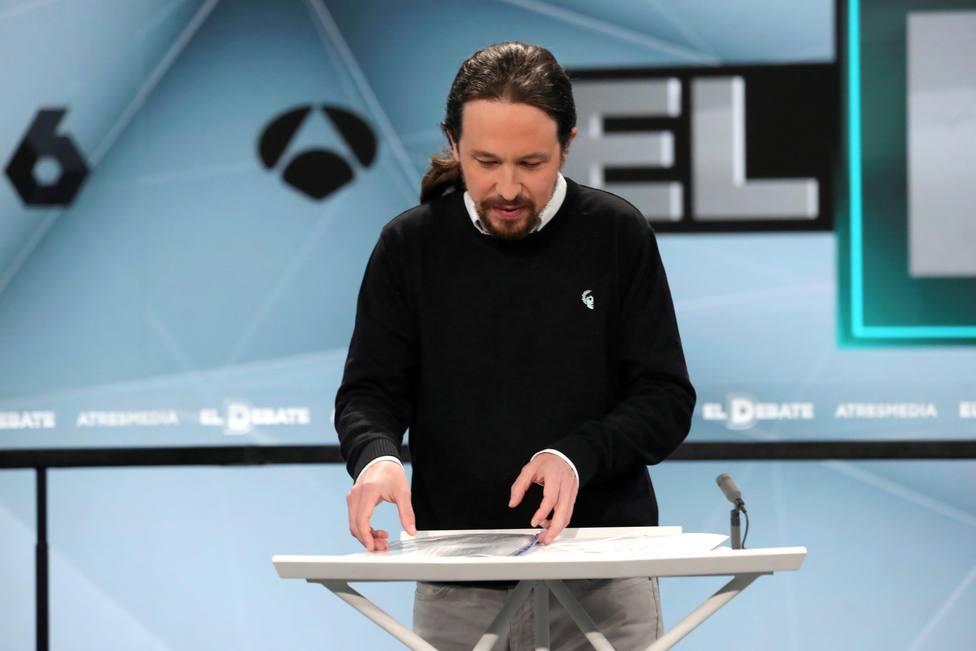 Pablo Iglesias en el debate de Atresmedia