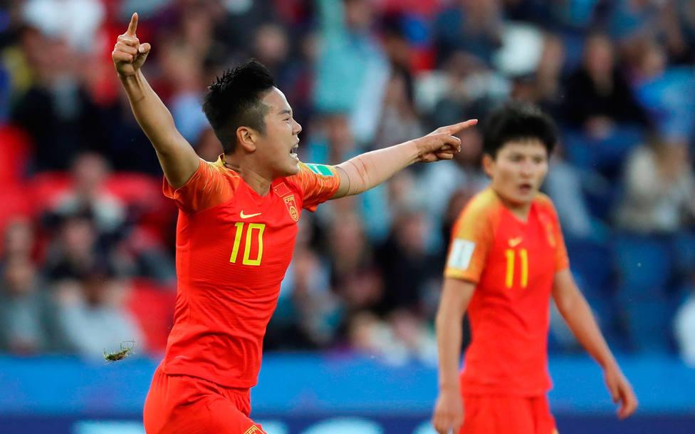 China celebra el gol ante Sudáfrica (EFE)