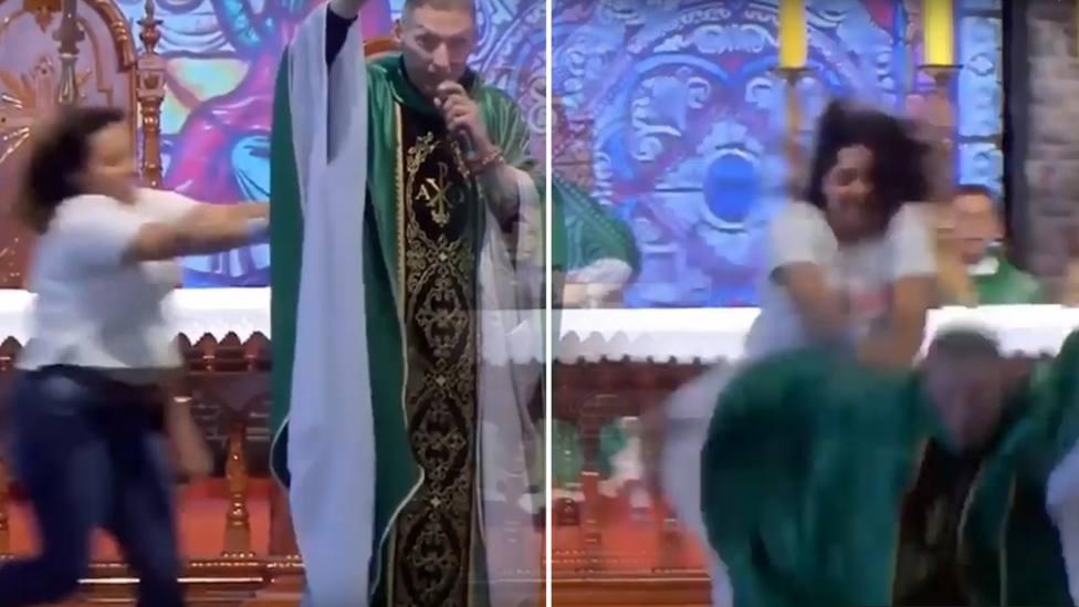 La escalofriante agresión en plena misa a un sacerdote que se ha hecho viral