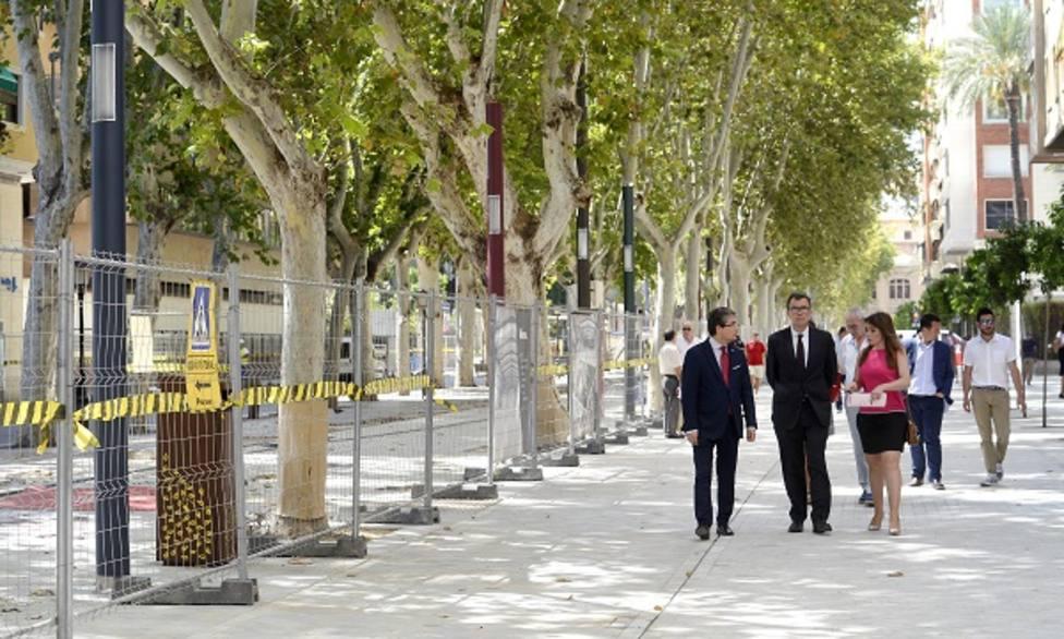 La apertura del eje oeste de Alfonso X da paso al inicio de las obras que culminarán este otoño el bulevar