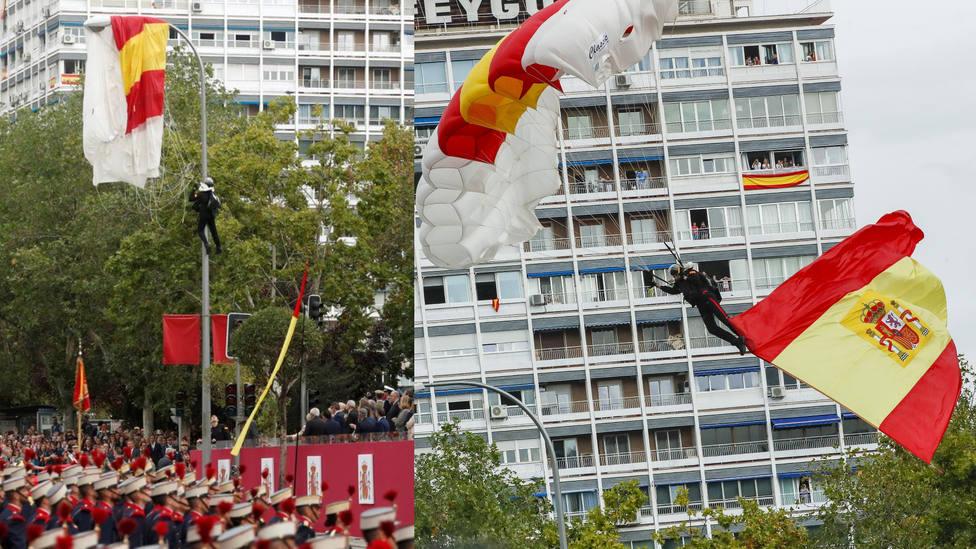 Descubren el posible error del accidente del cabo Pozo, el paracaidista que chocó contra la farola
