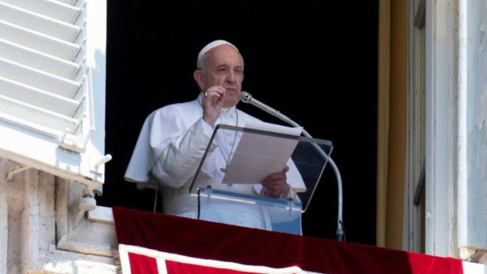 El Papap Francisco durante el rezo del Ángelus