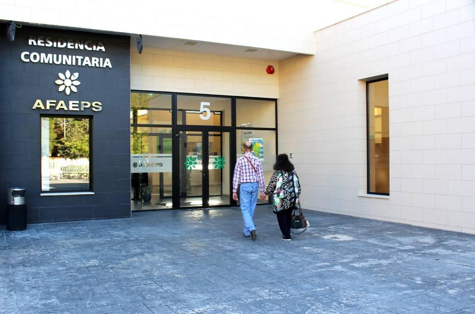 Imagen de la entrada del la residencia de AFAEPS