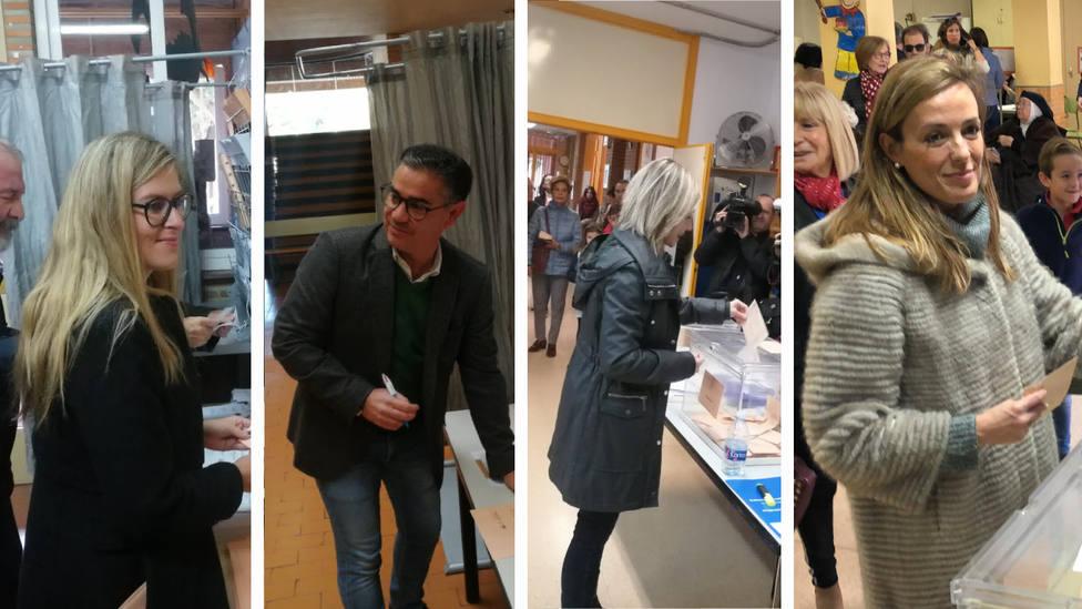 Candidatos al Congreso por la provincia de Albacete votan en sus respectivos colegios