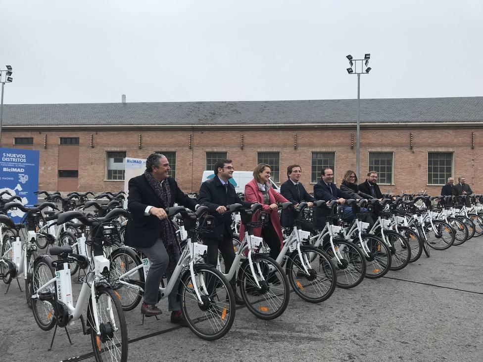 Usera, Latina, Carabanchel Moratalaz, Fuencarral- El Pardo podrán disfrutar del servicio de bicicletas BiciMad