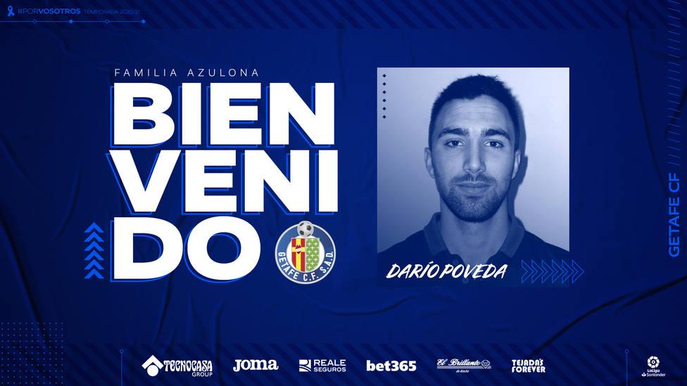 Darío Poveda refuerza la delantera del Getafe procedente del Atlético de Madrid