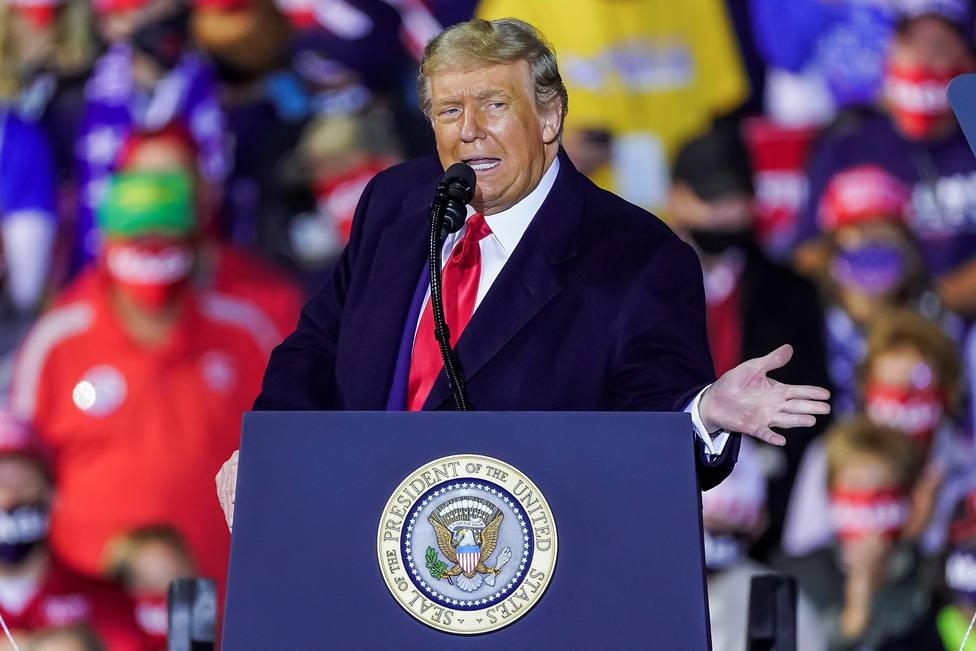 United States President Donald J. Trump holds campaign event in Swanton, Ohio