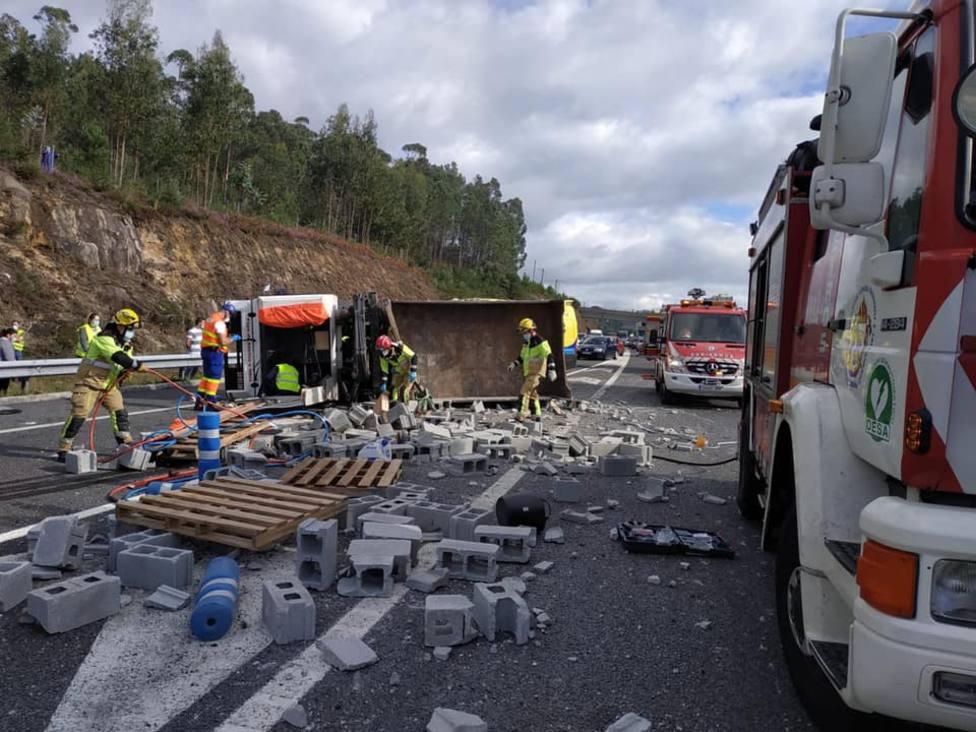 accidente camión a pobra