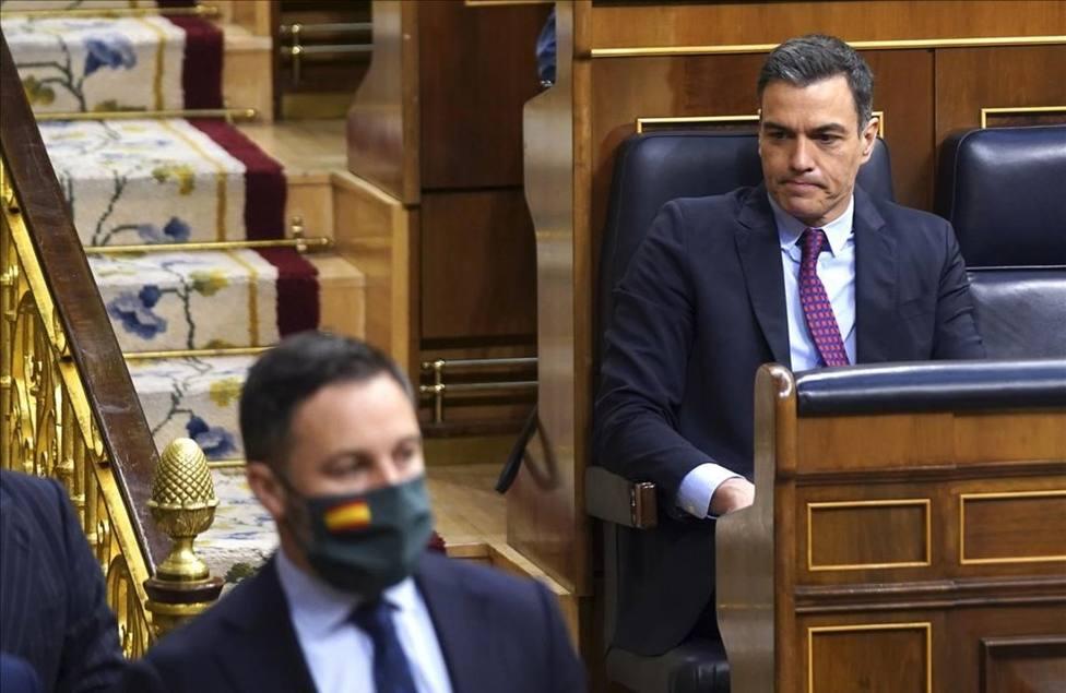 Abascal y Sánchez ponen toda la atención en el PP en la primera jornada de la moción de censura
