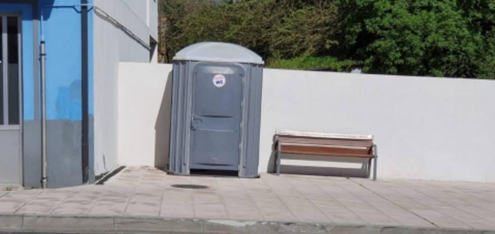 Lugo instala aseos portátiles en la ciudad ante el cierre prolongado de la hostelería