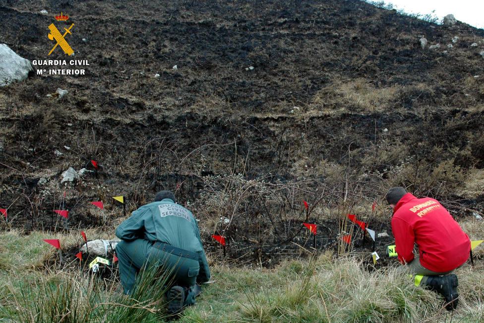 Investigados tres hombres por presuntamente provocar incendios forestales en Cantabria
