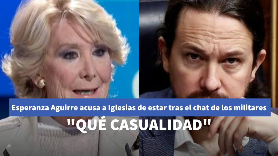 Esperanza Aguirre y Pablo Iglesias