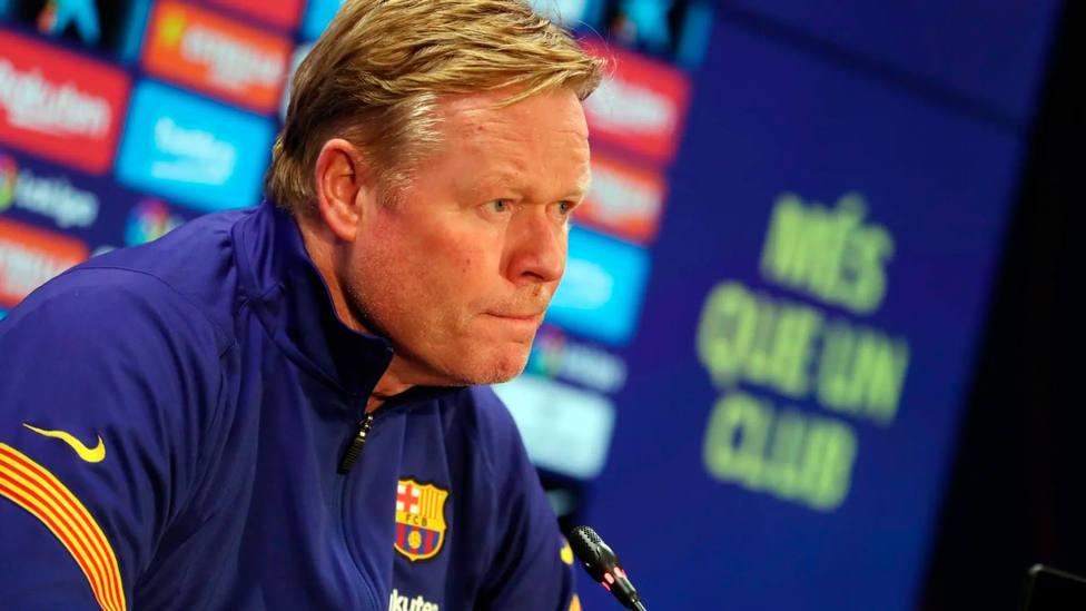 Ronald Koeman, entrenador del Barça, en rueda de prensa (FOTO: FC Barcelona)