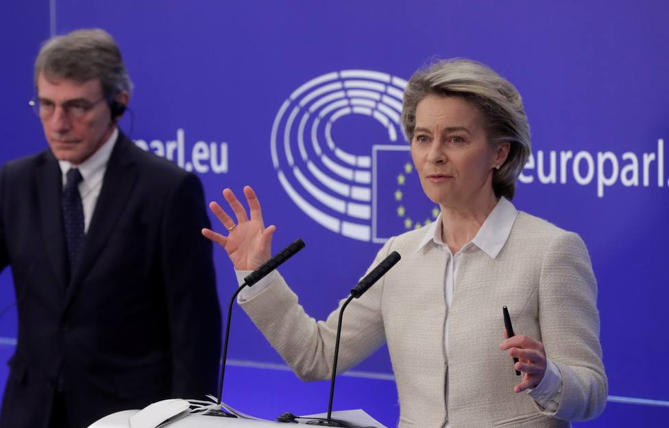 EU Parliament Recovery and Resilience Facility (RRF) signing in Brussels