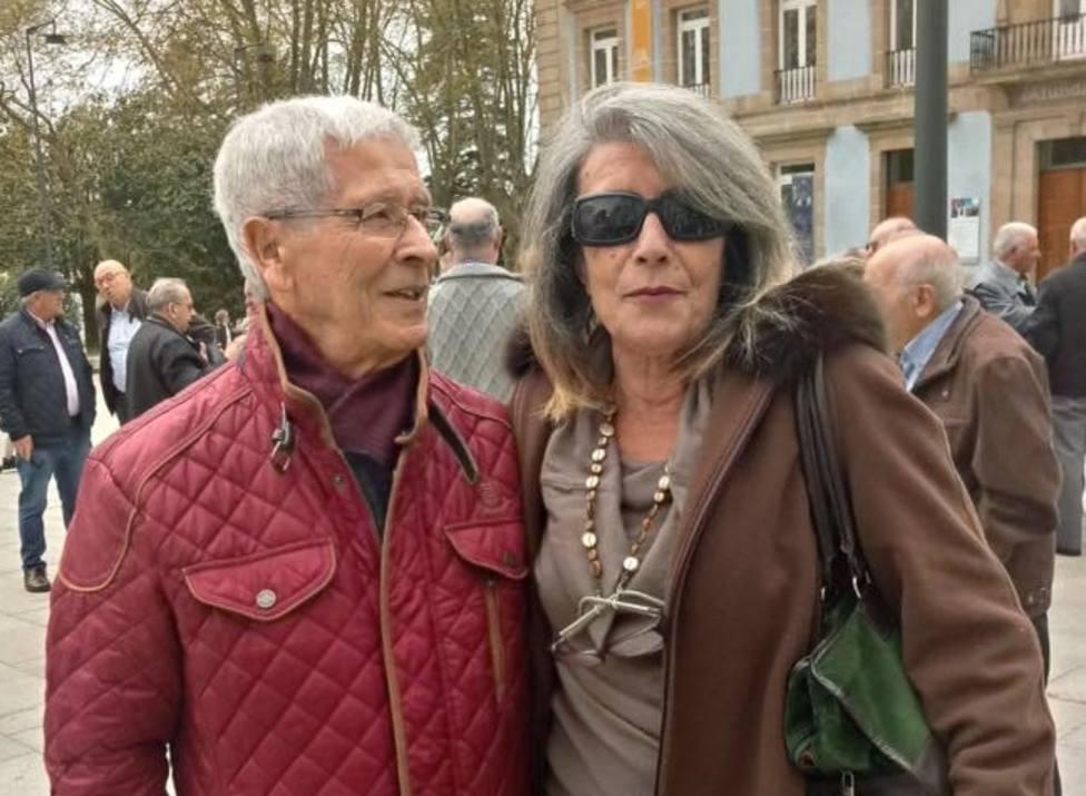Foto de archivo del presidente del PSOE de Ferrol, Tito Pena, con Paloma Rodríguez - FOTO: Cedida