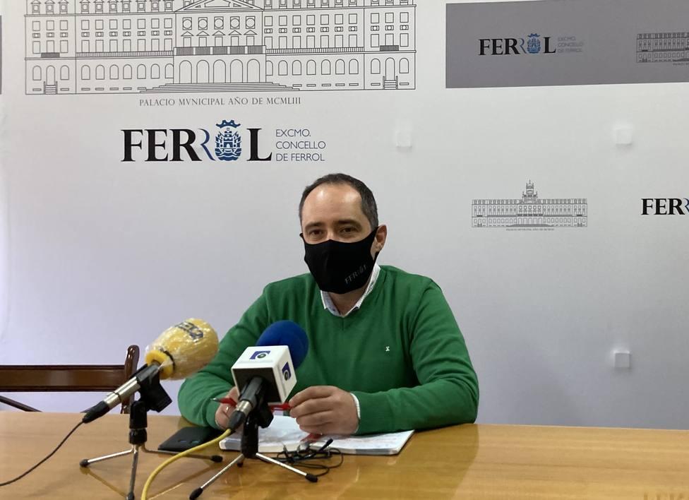 Germán Costoya en rueda de prensa. FOTO: Concello de Ferrol