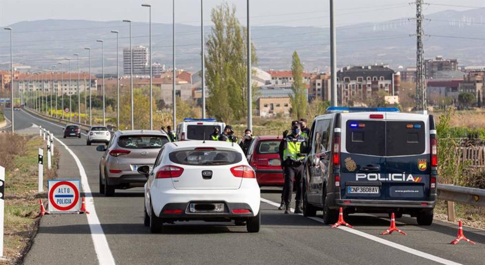 Controles en las carreteras durante el estado de alarma