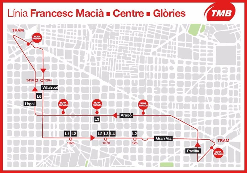 Barcelona tendrá un bus exprés que unirá Francesc Macià y Glòries a partir de septiembre