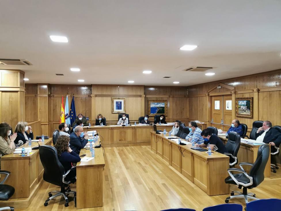 Corporación municipal de Xinzo de Limia, reunida en un pleno reciente