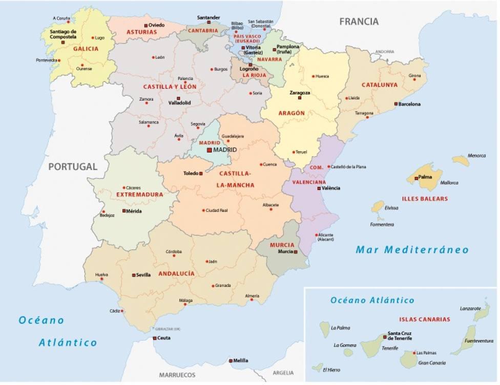 El mapa por comunidades con los nombres más elegidos para los niños recién nacidos
