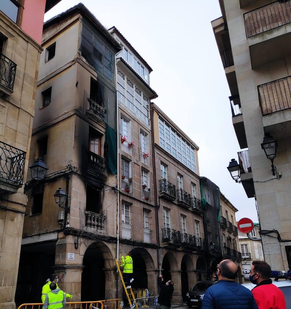 Incendio zona vella Ourense