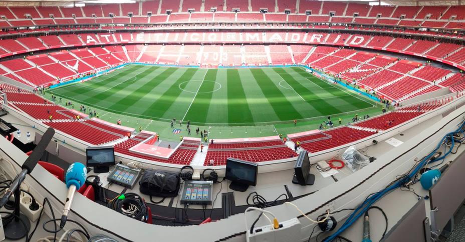 Tiempo de Juego (Cadena COPE), en el interior del estadio Wanda Metropolitano
