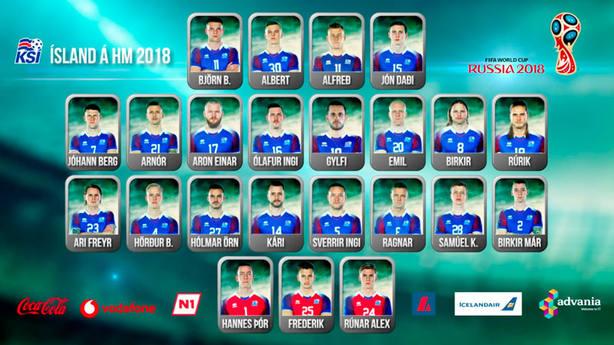 Lista de Islandia para el Mundial de Rusia