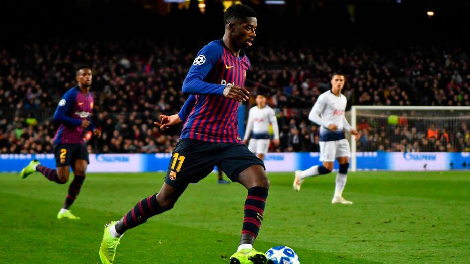 Ousman Dembélé, durante el Barça - Tottenham, de Liga de Campeones. CORDONPRESS